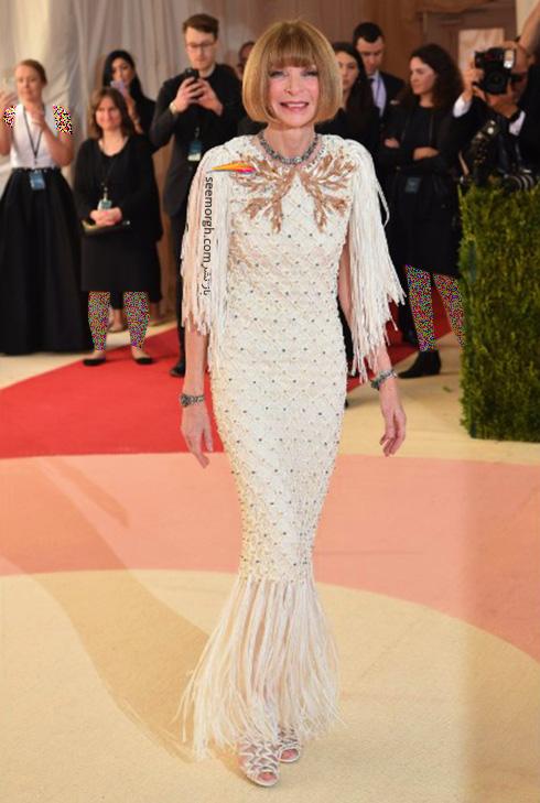 مدل لباس آنا وینتور Anna Wintour در مراسم مت گالا Met Gala 2016