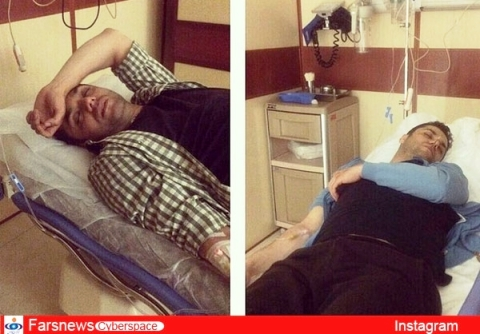آرش ظلی پور در بیمارستان