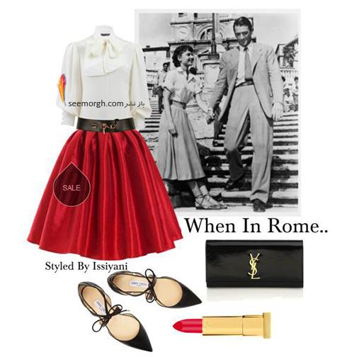 ست کردن بلوز و دامن تابستانی به سبک آدری هپبورن Audrey Hepburn - ست شماره 1