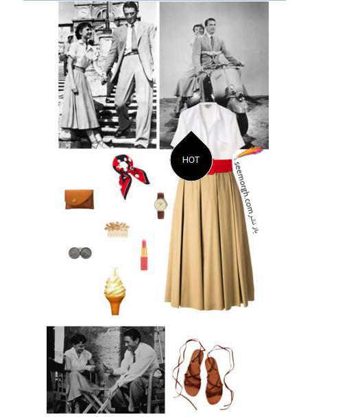 ست کردن بلوز و دامن تابستانی به سبک آدری هپبورن Audrey Hepburn - ست شماره 5