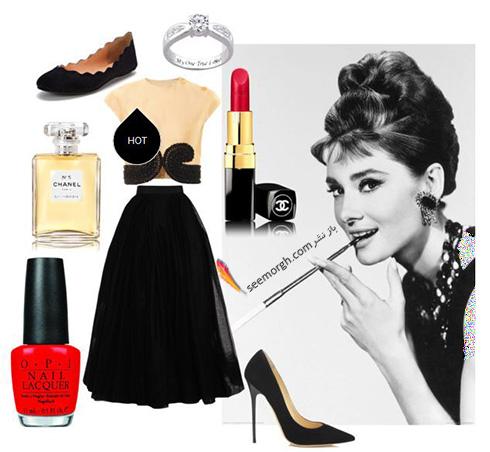 ست کردن بلوز و دامن تابستانی به سبک آدری هپبورن Audrey Hepburn - ست شماره 8