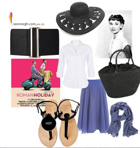 ست کردن بلوز و دامن تابستانی به سبک آدری هپبورن Audrey Hepburn - ست شماره 9