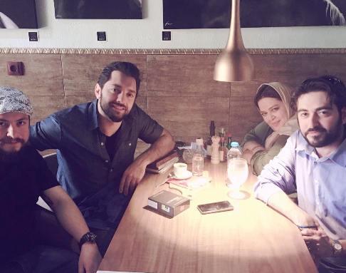 بهرام رادان در کافه-رستوران بهاره رهنما