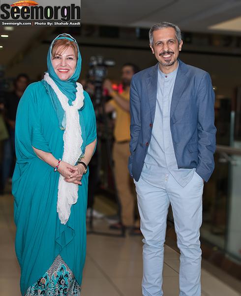 جواد رضویان در کنار اکرم محمدی