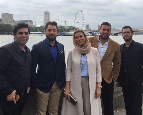 سحر دولتشاهی, بهرام رادان پژمان بازغی و برادران کیایی در لندن