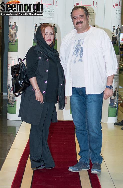 عکس هومن برق نورد و همسرش