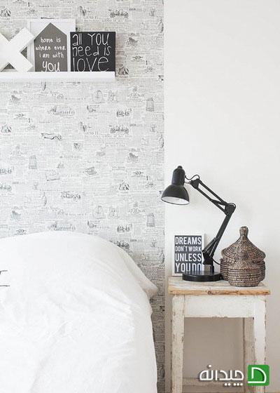در دکوراسیون اتاق خواب تان از کاغذ دیواری های طرح دار استفاده کنید