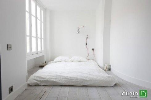 فقط رنگ سفید برای اتاق خواب