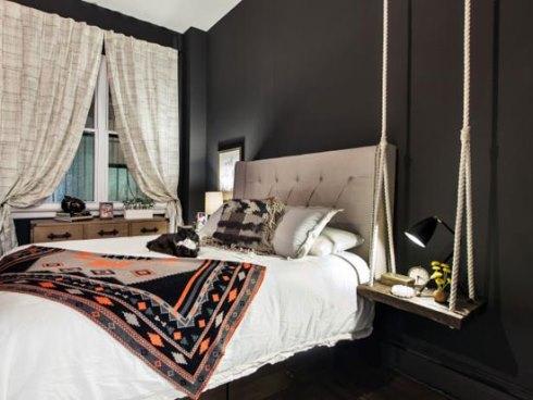 دکوراسیون اتاق خواب با رنگ سیاه