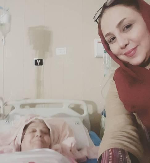 عکس بهنوش بختیاری در کنار مادرش