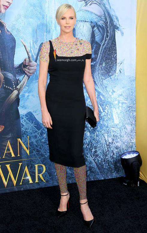 مدل لباس شارلیز ترون Charlize Theron در 11 آوریل، هفته مد