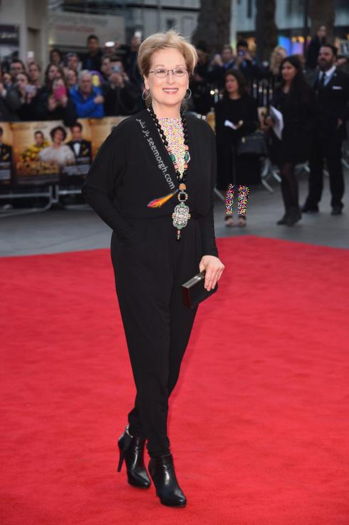مدل لباس مریل استریپ Meryl Streep در 11 آوریل، هفته مد