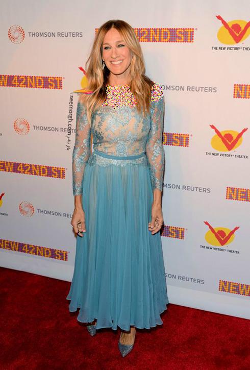 مدل لباس سارا جسیکا پارکر Sarah Jessica Parker در 11 آوریل، هفته مد