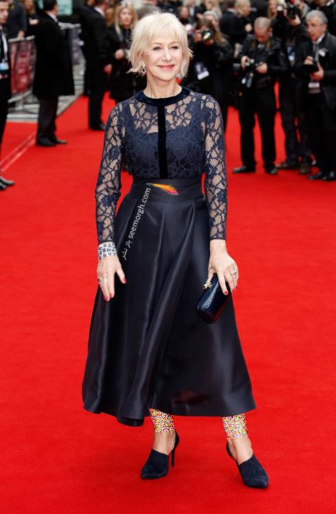 مدل لباس هلن میرن Helen Miren در 11 آوریل، هفته مد