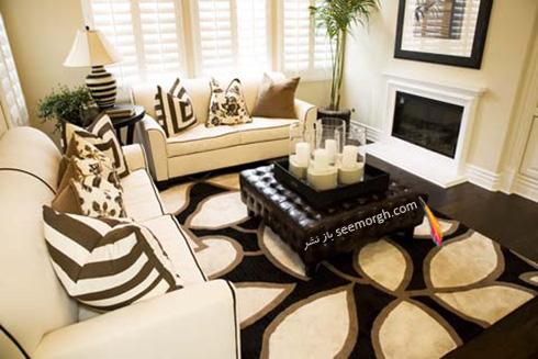 مبلمان مناسب با فرش زمینه مشکی - عکس شماره 2
