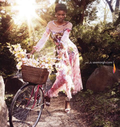 پیراهن زنانه طراحی شده با الهام از طبیعت از خانه مد بلو مارین Blumarine