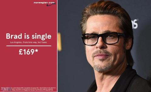 آگهی تبلیغاتی پس از مجرد شدن برد پیت