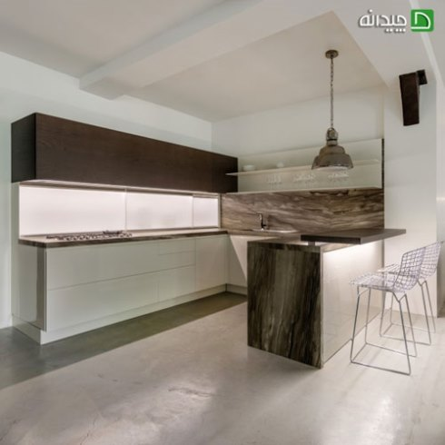 کابینت آشپزخانه کوچک : استفاده از رنگ های خنثی