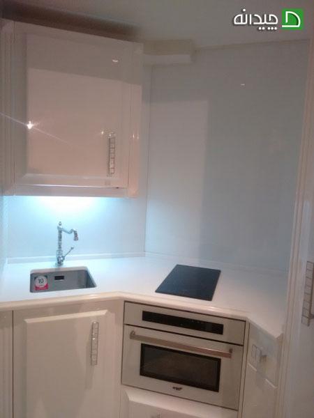 کابینت آشپزخانه کوچک : استفاده از کابینت های گلاس