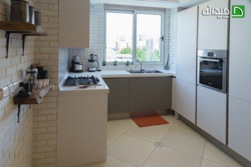 کابینت آشپزخانه کوچک : استفاده لوازم توکار