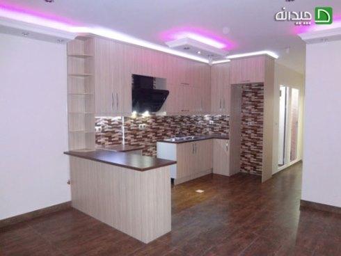 کابینت آشپزخانه کوچک: استفاده پلان U شکل