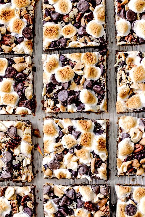 مرحله پنجم درست کردن شکلات کارملی آجیلی