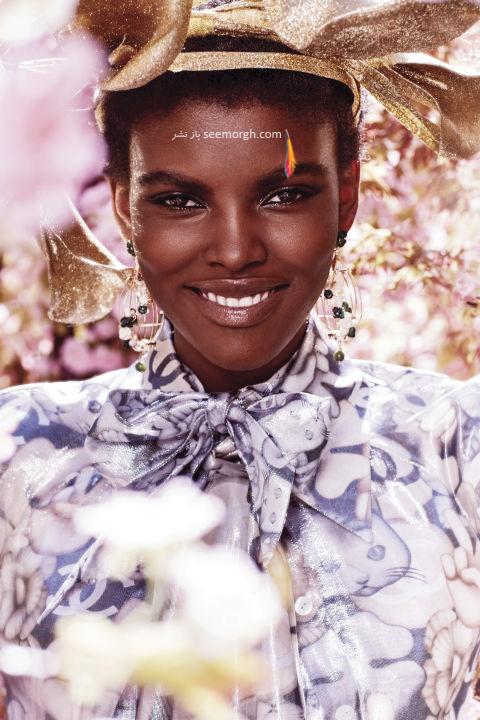 پیراهن زنانه طراحی شده با الهام از طبیعت از برند شنل Chanel