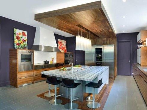 استفاده از سورمه ای در دکوراسیون داخلی آشپزخانه