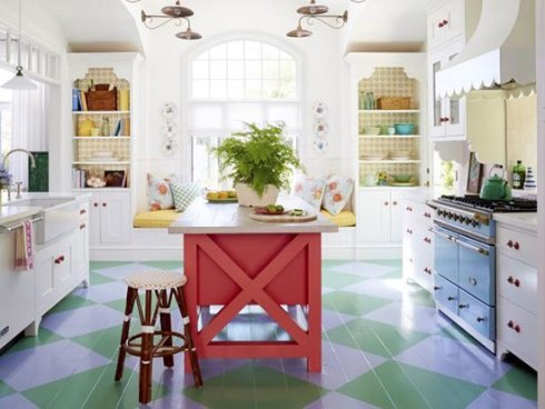 استفاده از رنگ سورمه ای در دکوراسیون داخلی آشپزخانه