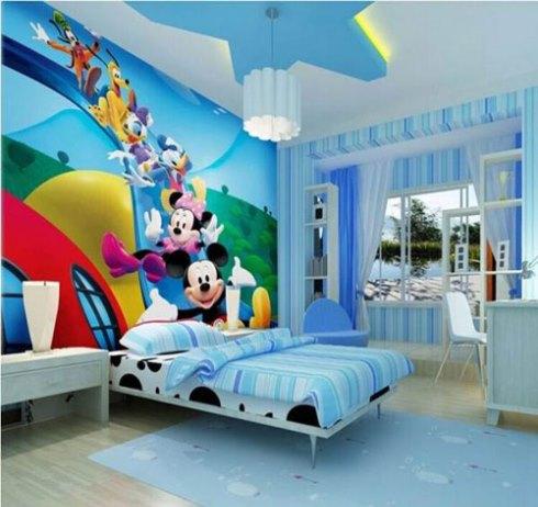 آبی رنگی مناسب برای اتاق خواب کودکان پسر