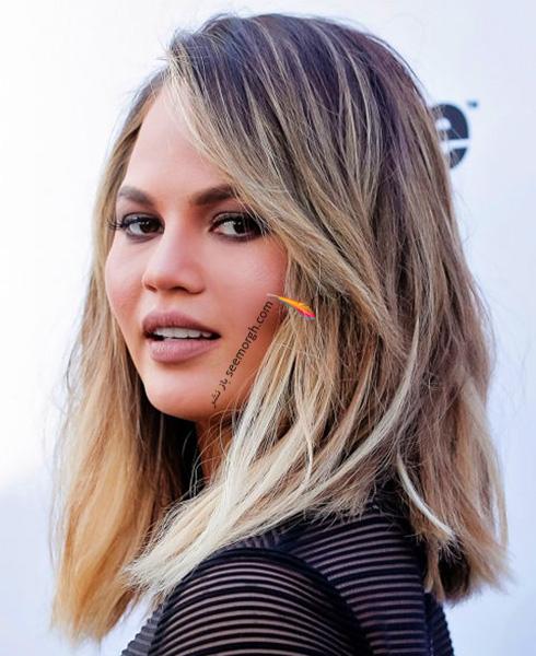 مدل مو پاییزی به سبک کریسی تیگن Chrissy Teigen