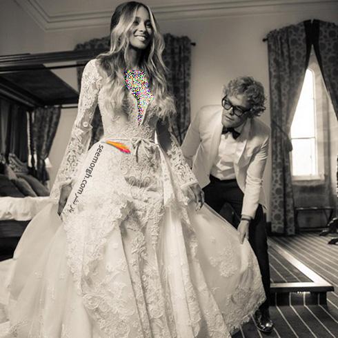 پیتر دونداس Peter Dundas طراح لباس عروس سیارا Ciara - عکس شماره 1