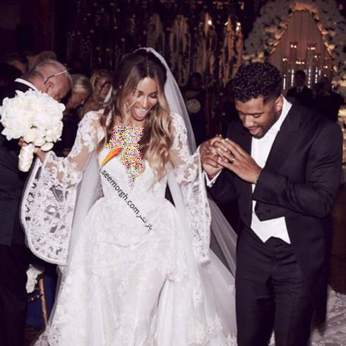مراسم عروسی سیارا Ciara و راسل ویلسون Russell Wilson - عکس شماره 4