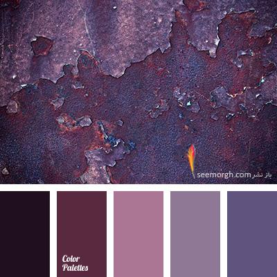 بهترین رنگ ها برای ست کردن با مبلمان زرشکی - پالت رنگی شماره 1