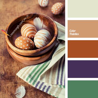 بهترین ترکیب رنگی با رنگ قهوه ای برای یک دکوراسیون رنگی شاد - ترکیب شماره 1