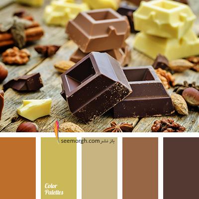 بهترین ترکیب رنگی با رنگ قهوه ای برای یک دکوراسیون رنگی شاد - ترکیب شماره 4