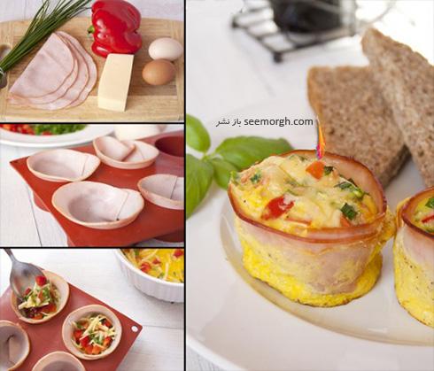 صبحانه با تخم مرغ و کالباس