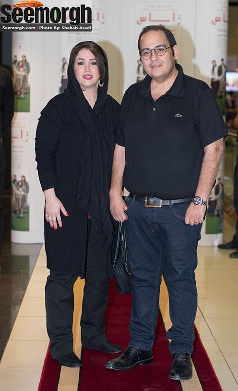 رضا داوودنژاد و همسرش غزل بدیعی