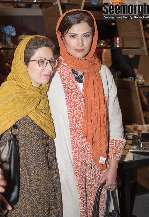 لادن مستوفی در کنار همسر رضا عطاران