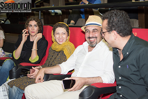 خنده های رضا عطاران در کنار همسرش