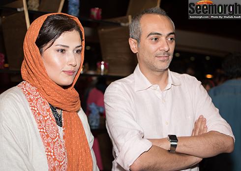 علی قربانزاده در کنار لادن مستوفی
