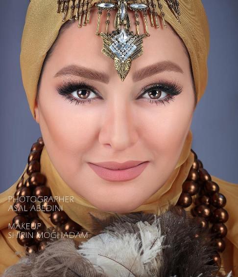 عکس الهام حمیدی بعنوان مدل آرایشی