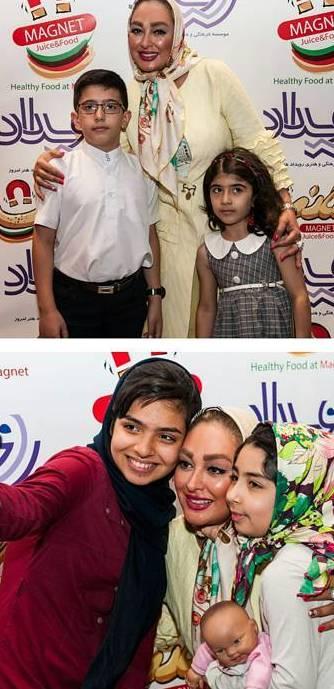 عکس یادگاری الهام حمیدی با طرفدارانش