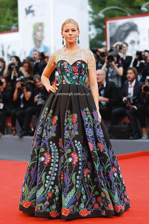 مدل لباس دوم الیزابت بنک Elizabeth Banks در جشنواره فیلم ونیز 2016