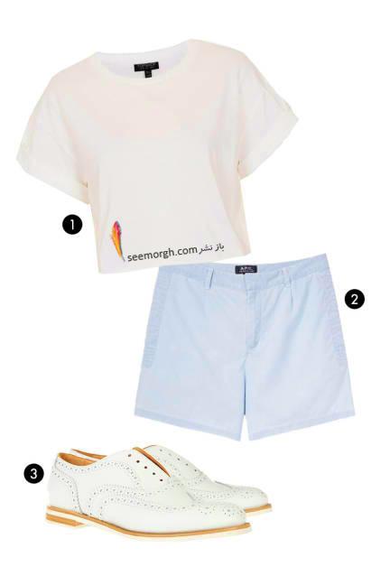 ست کردن بلوز نیم تنه با شلوارک کتان, 10 ایده جالب برای پوشیدن نیم تنه های تابستانی,10 روش برای ست کردن نیم تنه تابستانی