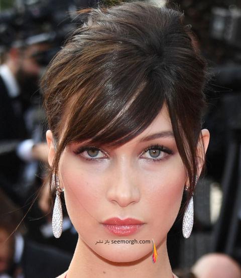 آرایش بلا حدید Bella Hadid در جشنواره کن 2016 Cannes