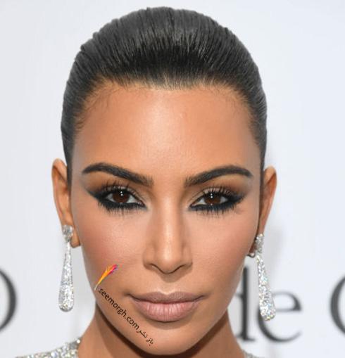 آرایش کیم  کارداشیان kim Kardashian در جشنواره کن 2016 Cannes