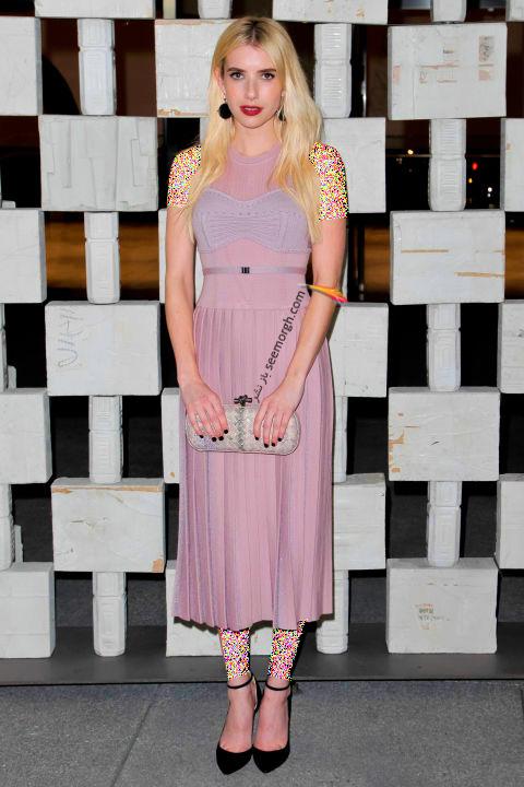مدل لباس اما رابرتز Emma Raberts در هفته مد نیویورک