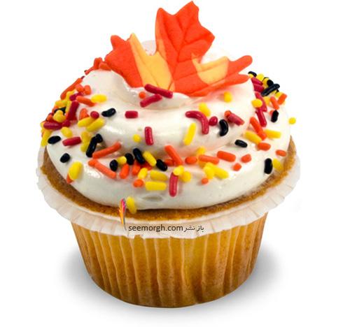 تزیین کاپ کیک برای پاییز - تزیین شماره 4