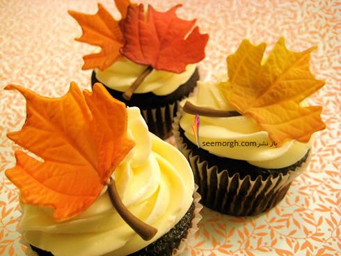 تزیین کاپ کیک برای پاییز - تزیین شماره 2